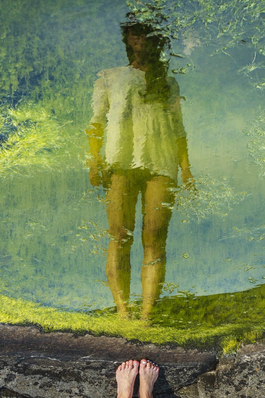 Reflection portrait.