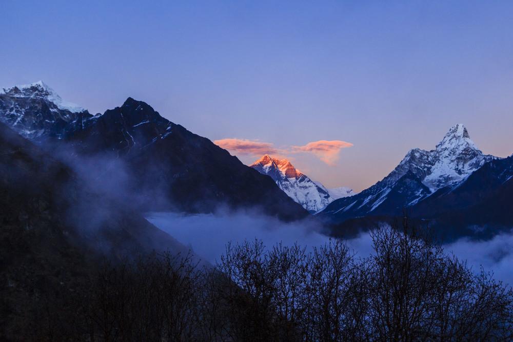 Sunset over Himalaya.