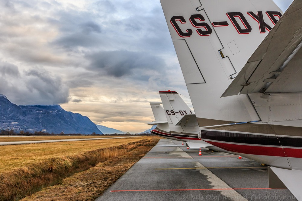 Netjet tails in Chambery, France.