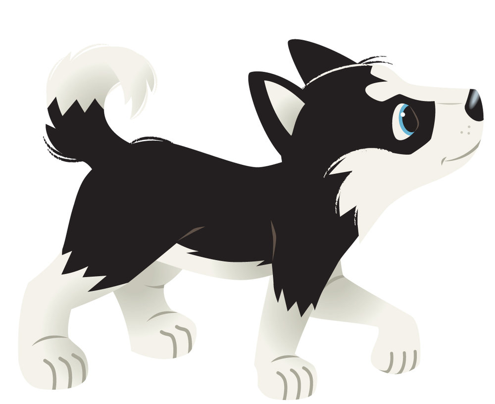 Husky Puppy Black and White.jpg