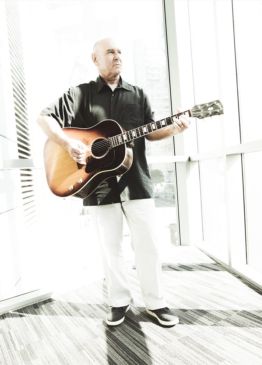 John McCaw with his Gibson J-160E at the Grammy Museum in Los Angeles.