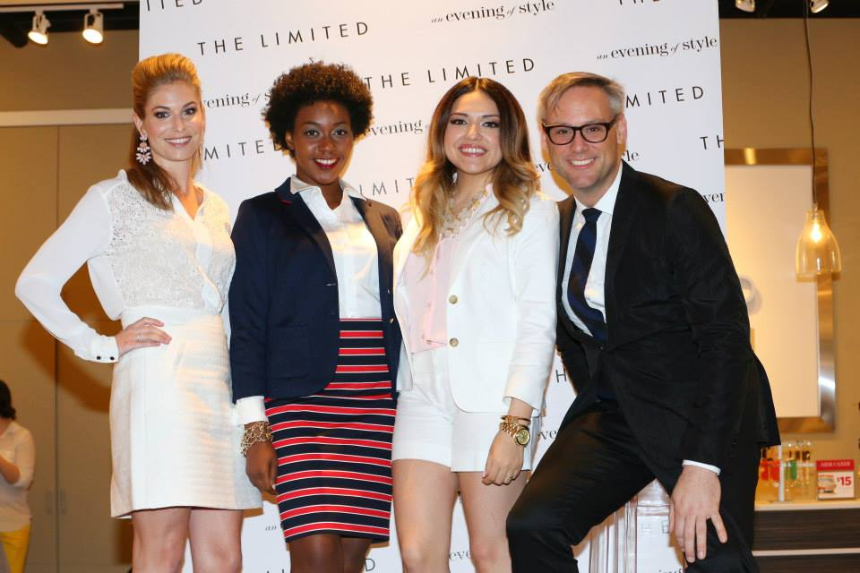 One Small Blonde (Brooke Burnett), Jaleesa Charisse (formerly The Fashion Geek), and Ashes Into Fashion (Ashley Rubi) with The Limited Head of Design, Elliot Staples.