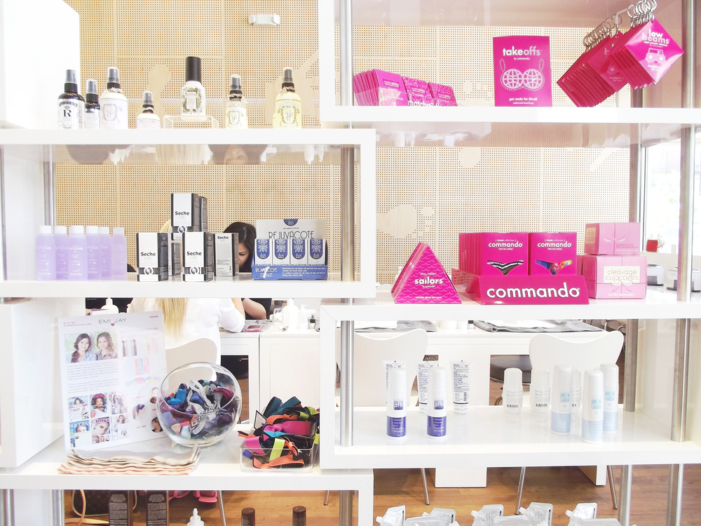 Many of the products they use during the services are also sold in the salon and they have a bunch of other great quick picks if you need something before a date or girls' night!
