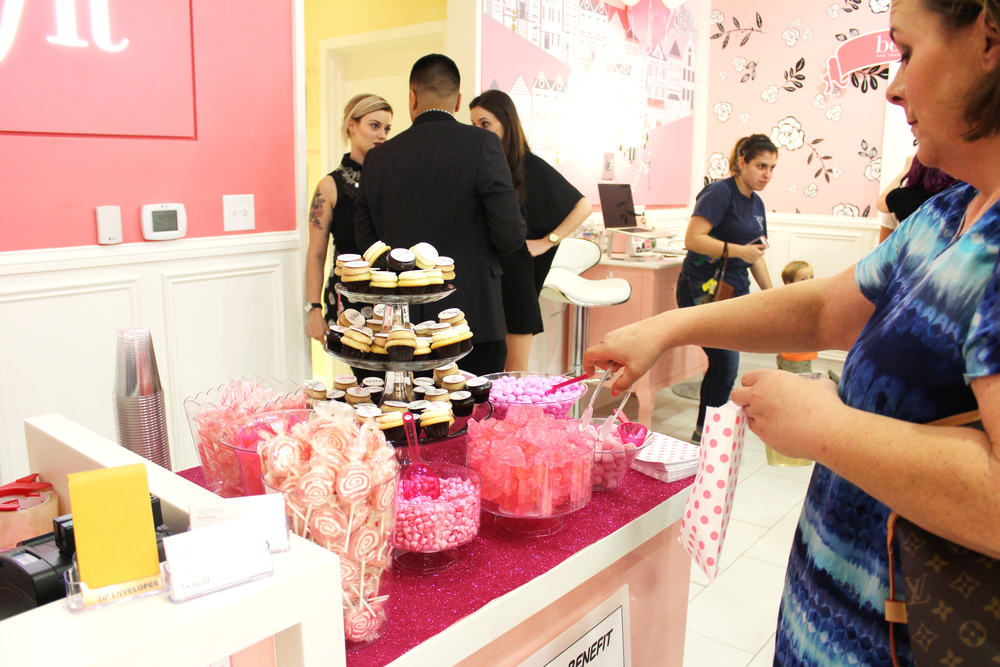 Guests indulged in beauty + sweets