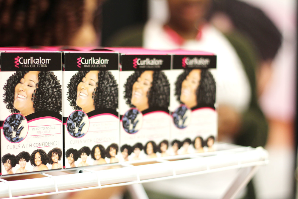Boxes of the curls. I love the packaging and cleaned up with 5 boxes of them!