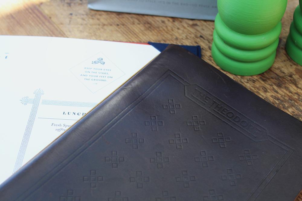 The Theodore Dallas menu