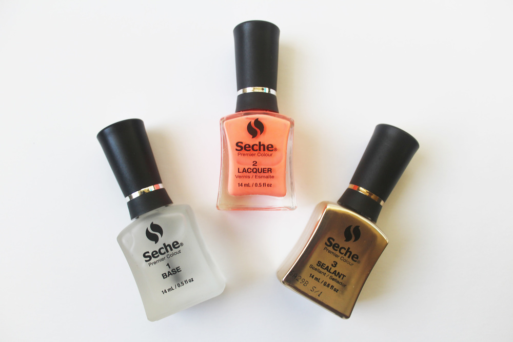 seche premier colour nail polish steps