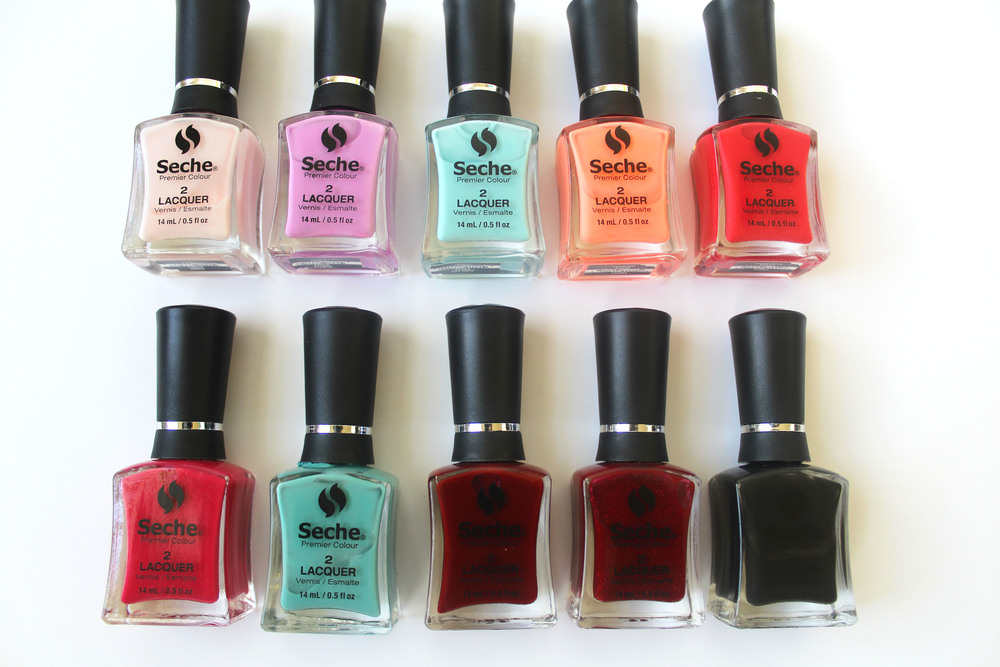 seche premier colour nail polish colors