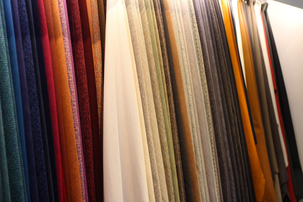 BoConcept's large assortment of fabrics that can be customized to meet the client's needs.