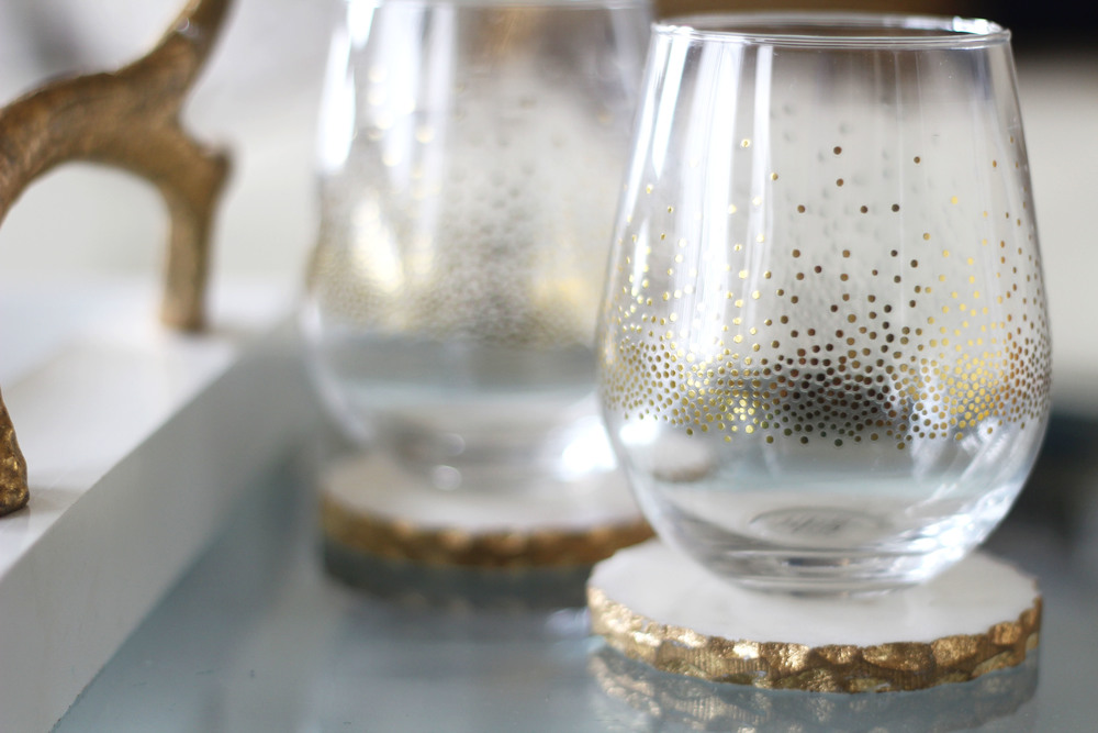 Stemless Wine Glasses (set of four; $14.99)