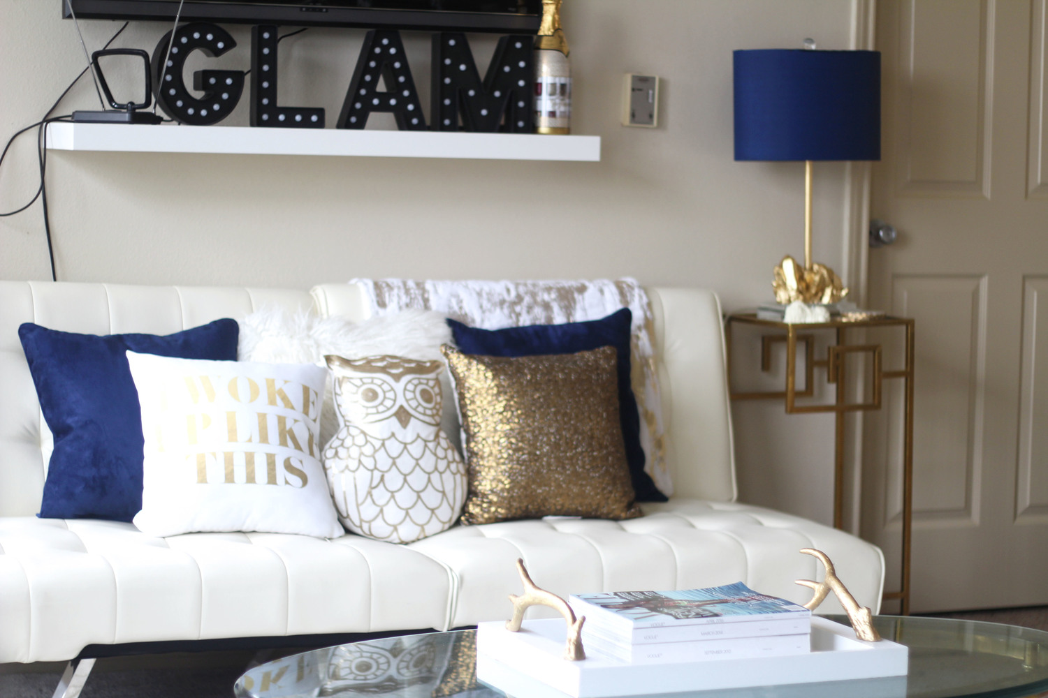 6 Easy Ways to Update Accent Decor | Royal Blue + Gold — Jaleesa ...