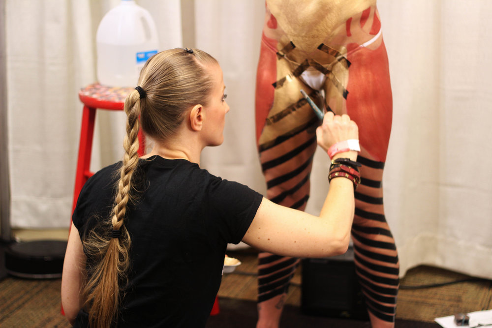 Full Body Painting at The Makeup Show Dallas
