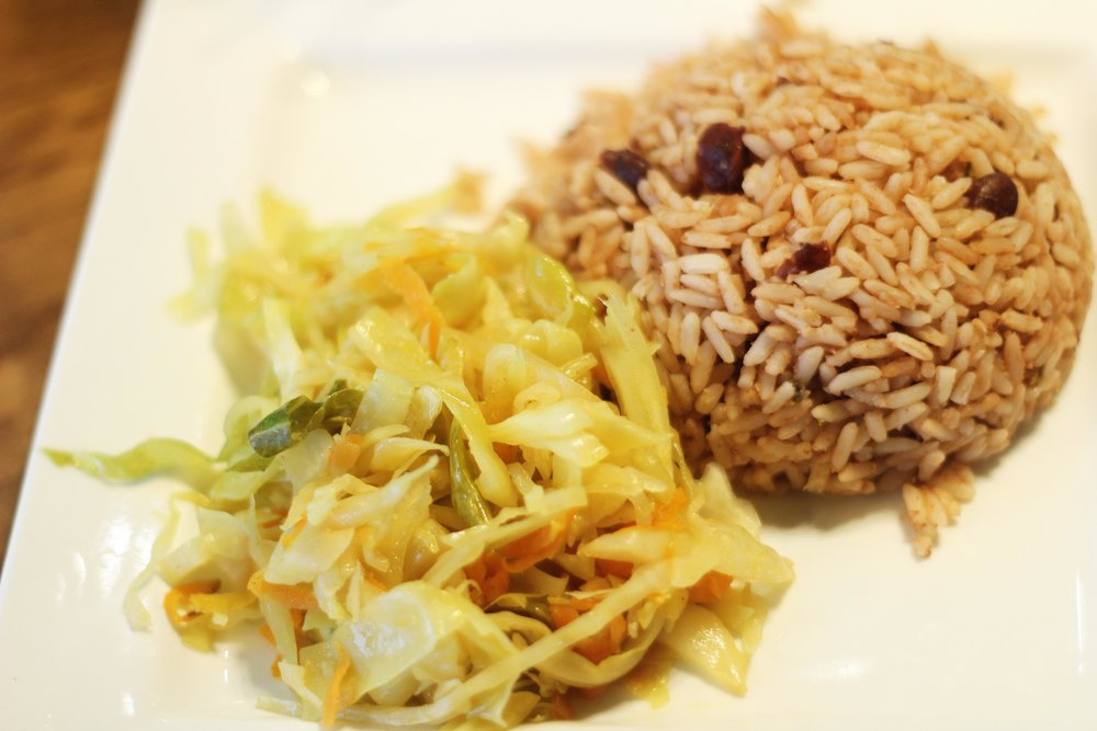 Rice & Peas and Sauteéd Vegetables