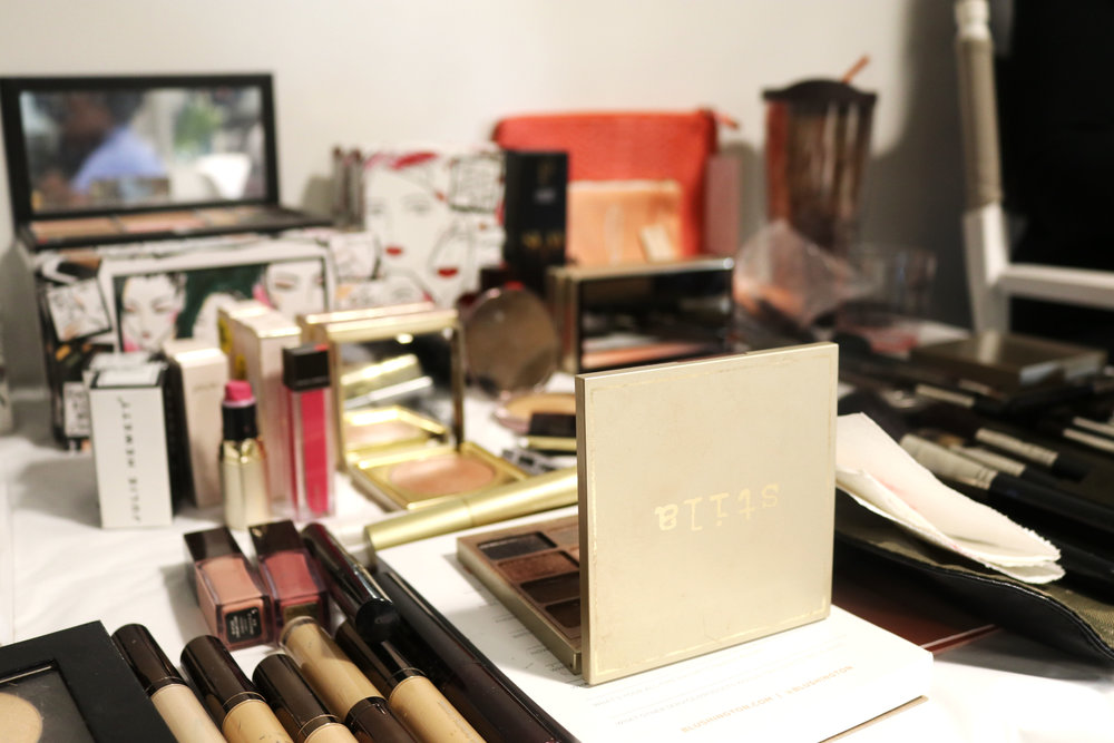 Prestige beauty brands such as Stila, Jouer, Kevyn Aucoin were used to glam up attendees.