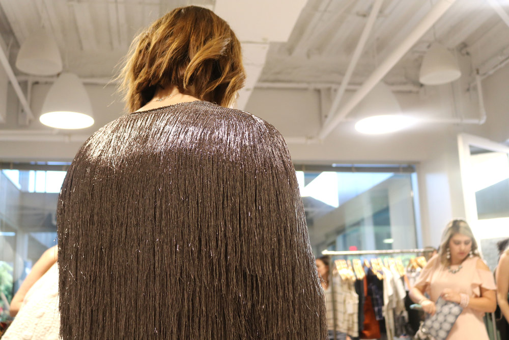 Style was everywhere! Completely obsessed with this metallic fringe jacket.