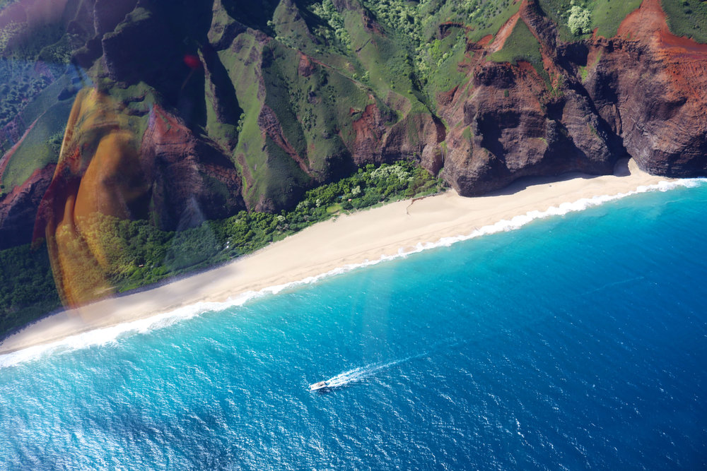 The breathtaking Na Pali Coast.