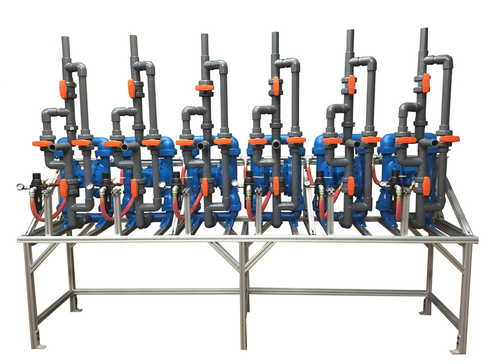 6 Pump Diaphragm Pump Rack