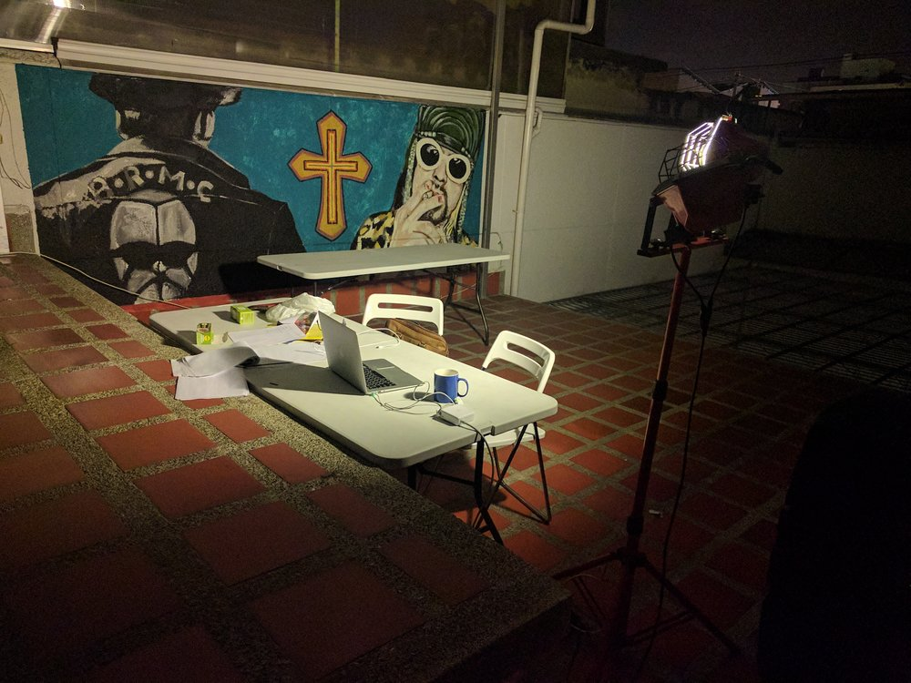 Prototyping in Makeshift Rooftop Offices -