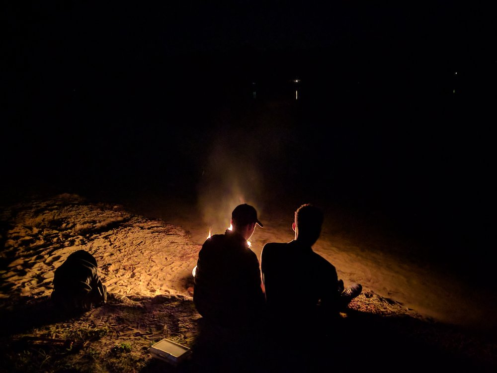 Brainstorming by the Beachfront Bonfire -