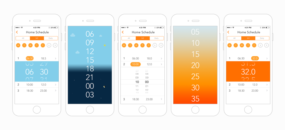 Examples of an alternative UI concept experiment
