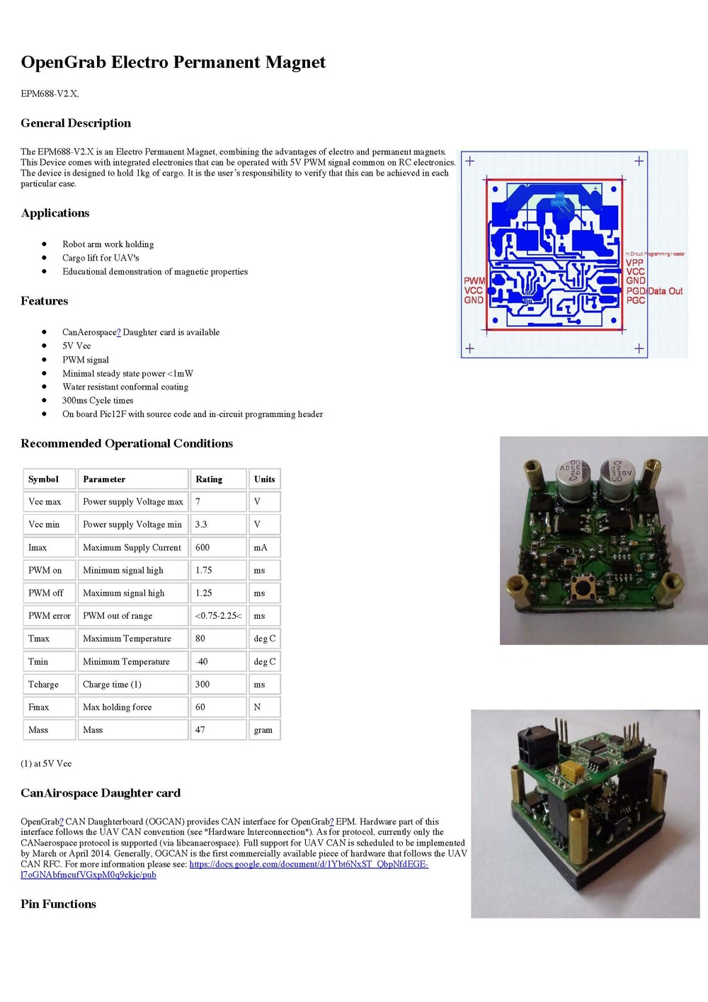 http://nicadrone.com/img/Datasheet%20EPM688-V2.0.pdf