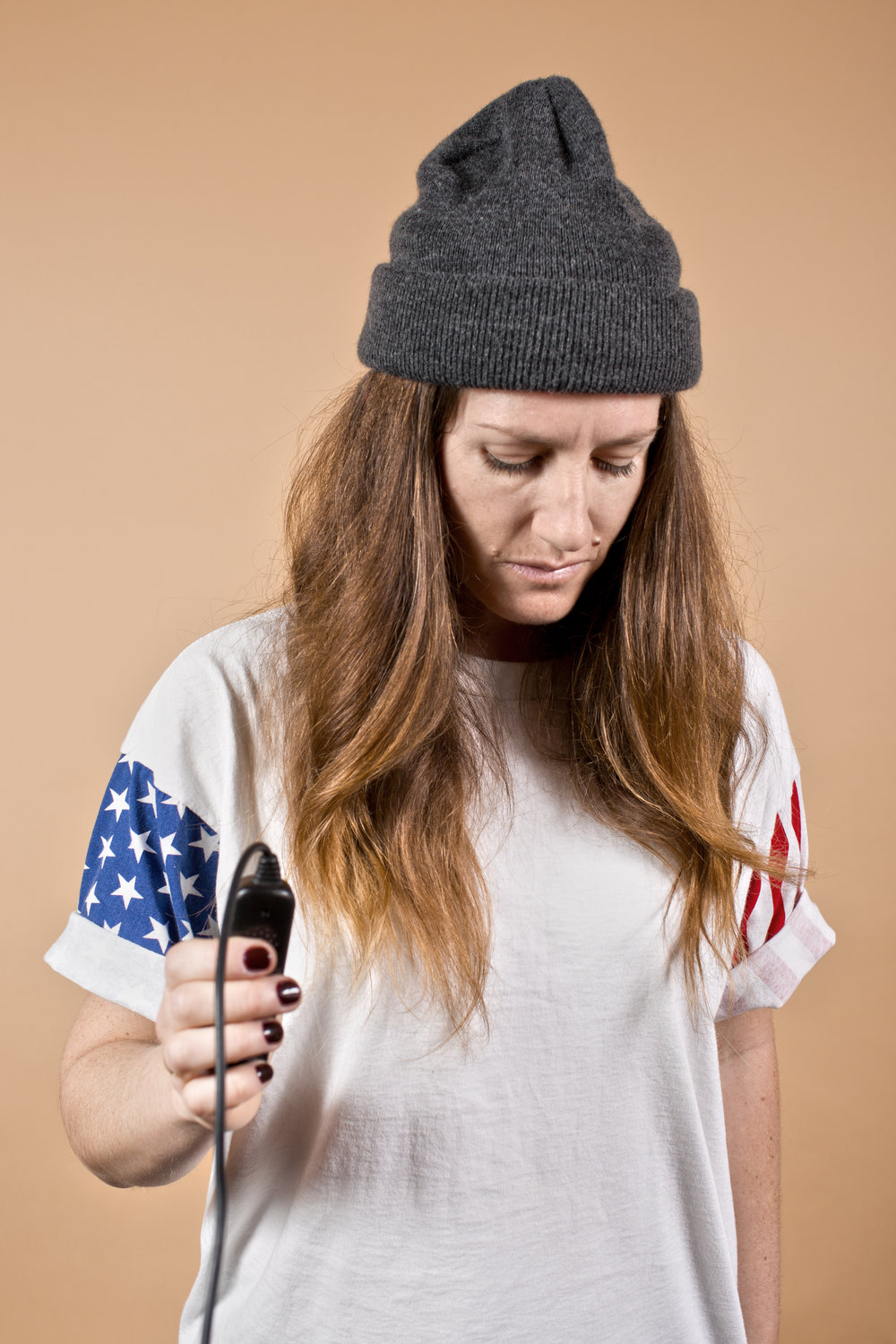 Self-Portrait with Flag Shirt