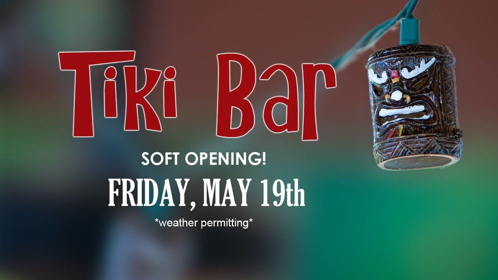 Come join us for the soft opening of Jack's Tiki Bar and Jack's Deck on Friday, May 19th!  It will be weather permitting so send good vibes and fingers crossed!