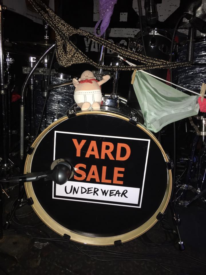 Yard Sale Underwear …. the self-proclaimed flamboyant kings of polyester pop & soul, is a cover band from Muskegon, MI. They are a fun, high-energy band who know how to party and how to make the people dance! They play all sorts of styles of music, but mainly settle in the groove of old-school soul, funk, R & B, rock, and even some new-school jams.