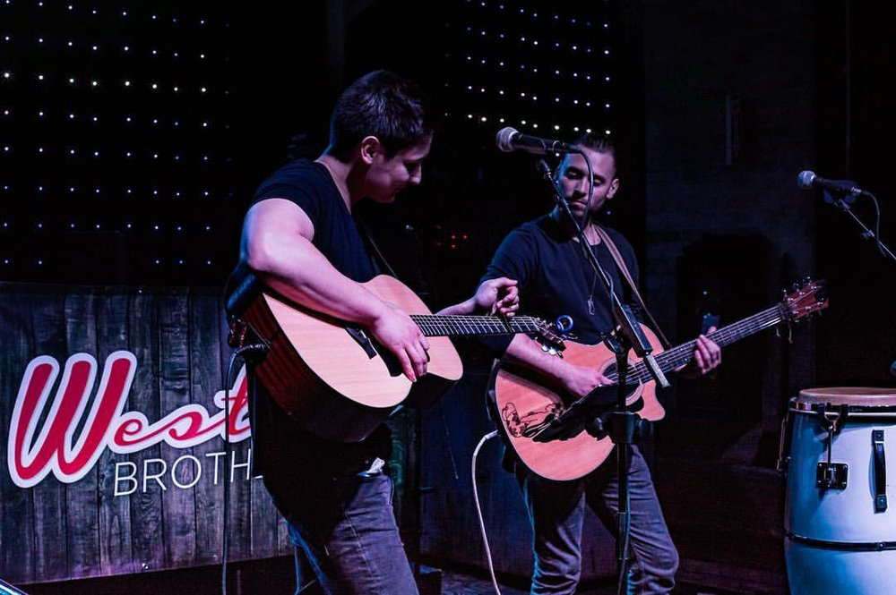 Westlan Brothers, Brett and Coty,perform midwest country music and everyone's favorite summer hits. Their music genre is heavily influenced by today's current pop-country style.