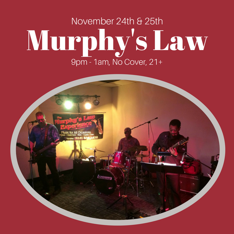 Murphy's Law Band is a three piece band that plays a wide variety of music that's suitable to fit any crowd. They love to play Classic Rock, Funky Music, 50's & 60's, Motown, Blues, Country Rock, Disco, Reggae, and Rhythm & Blues just to name a few. Great dance music is what they are known for!