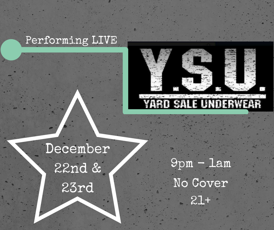 This weekend: Yard Sale Underwea will be performing live at Jack's! Come see the self-proclaimed flamboyant kings of polyester pop & soul.