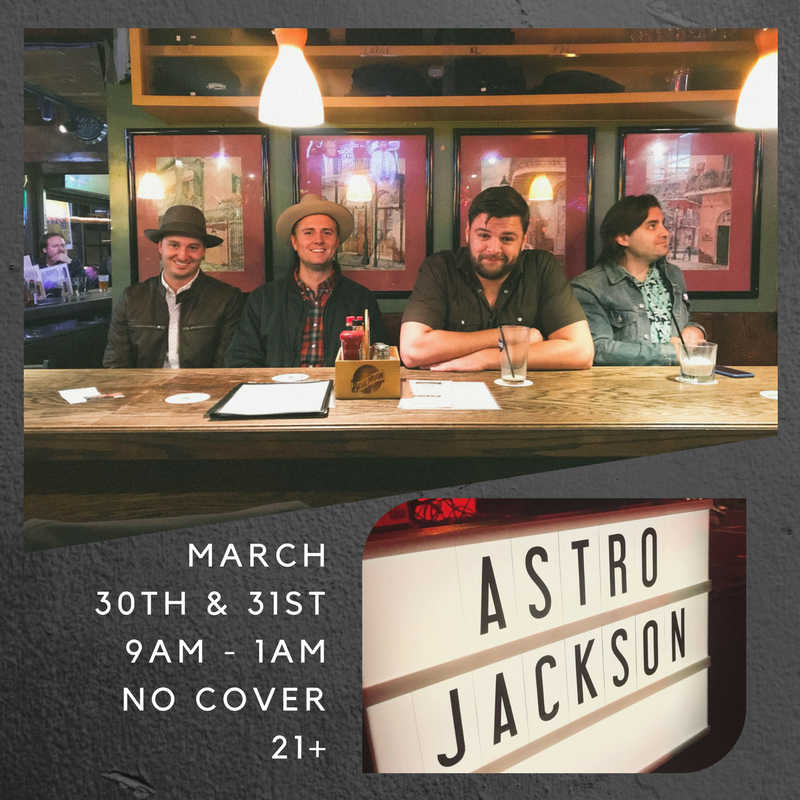 """""""Astro Jackson was formed in the summer of 2015 with the goal of creating a band with a unique sound that wasn't defined by any one genre. Playing a mix of pop,rock, country, funk, and Americana, AJ (as they call themselves)appeals to a wide audience, and their talent and energy is obvious from the first to last song."""