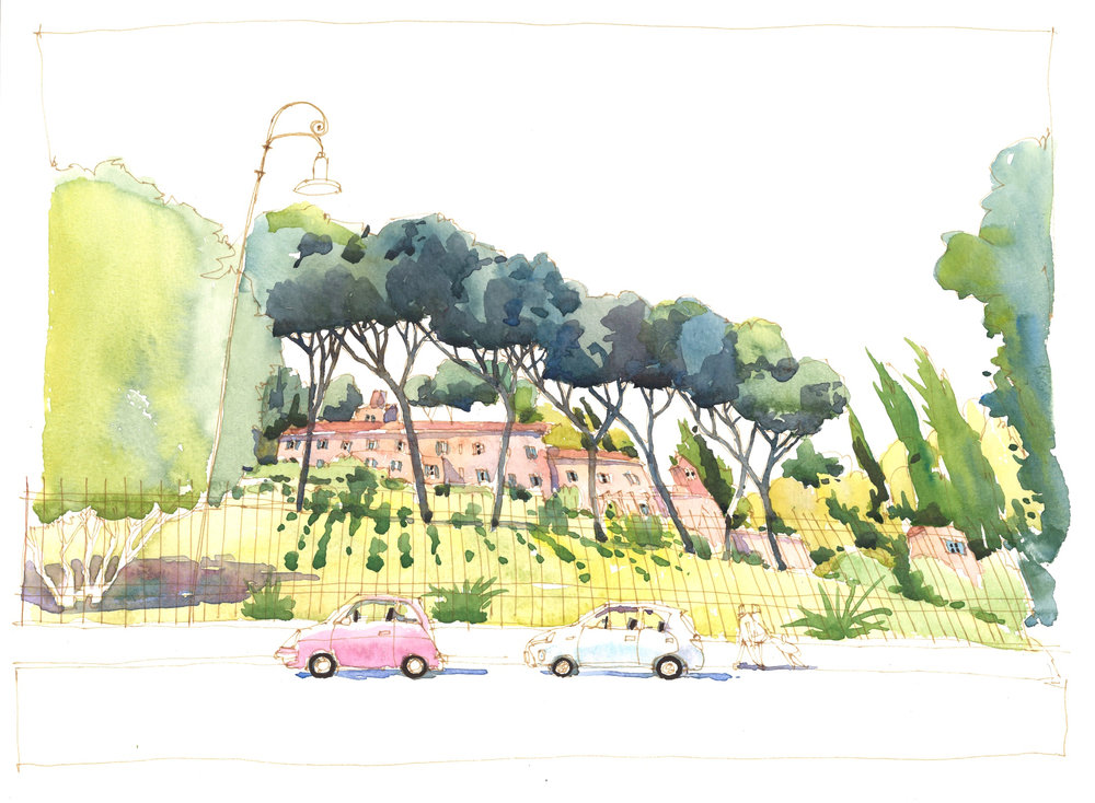 """Roseta Comunale, Rome,"" Wayne Bissky, 2016"