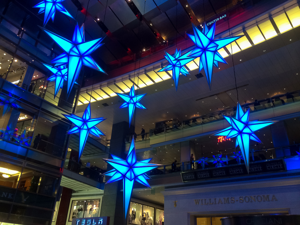 Beautiful Christmas stars are my absolute favorite at the Shops at Columbus Circle.