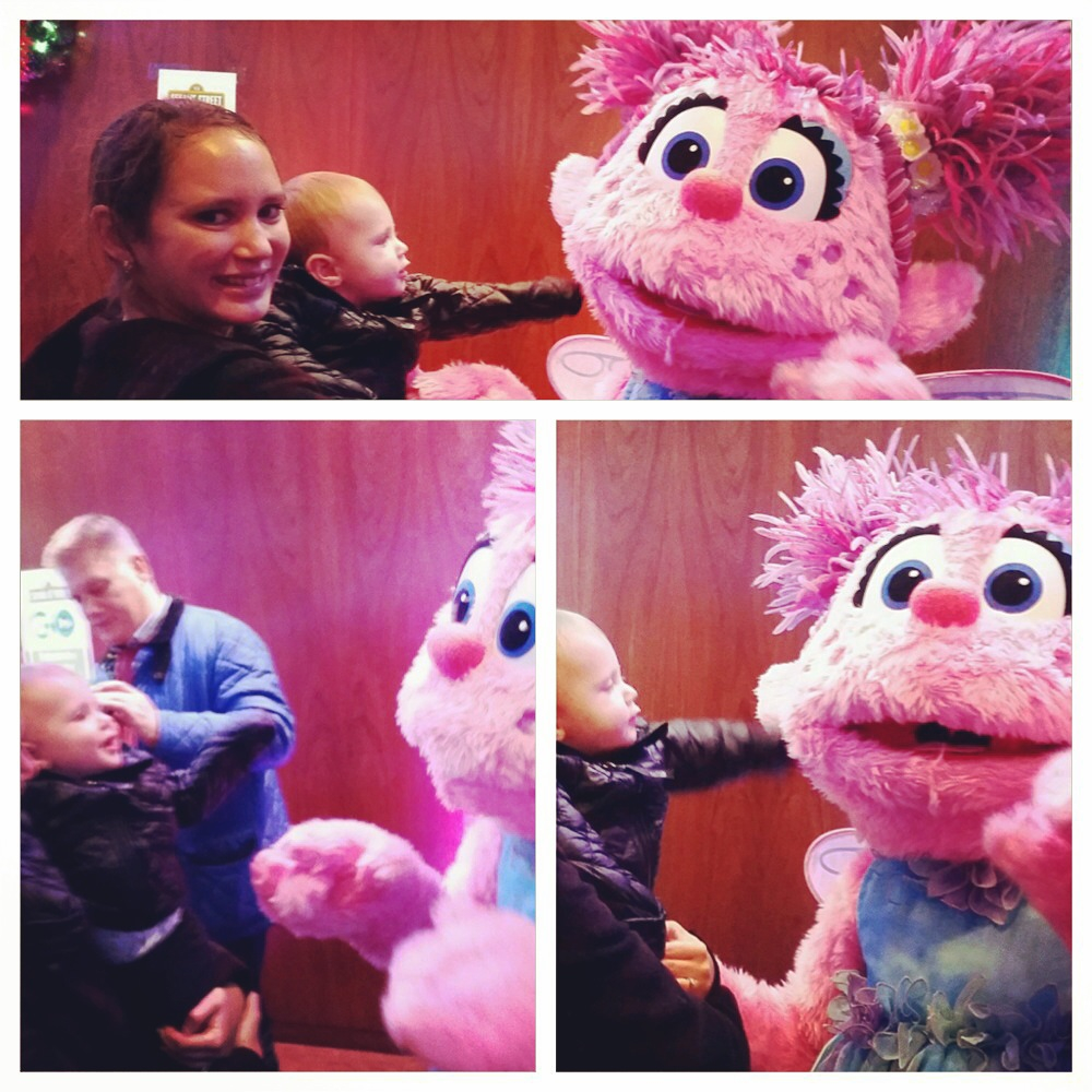 Henry's highlight of the night was meeting Abby Cadabby. He really loves her and her flying fairy school.