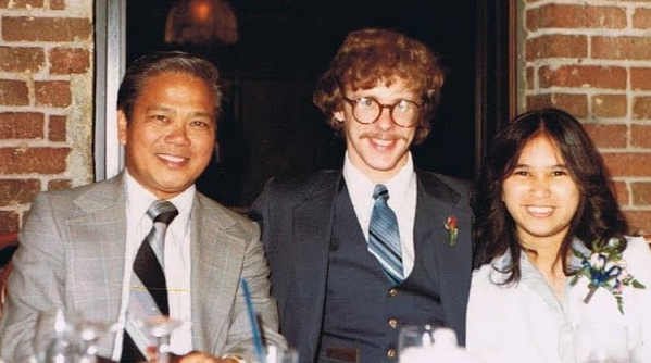 My parents and grandad (pictured left) at my parents' wedding rehearsal dinner.