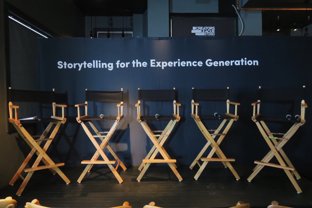 The title of the panel was no accident. Experiential storytelling is going to change everything.
