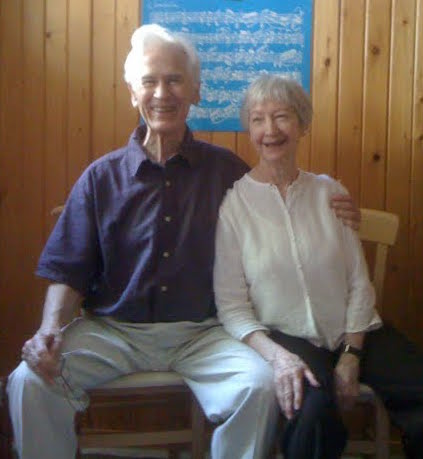 Alex and Joan Murray in their teaching studio in Urbana, IL. Photo by Philip Johnston.
