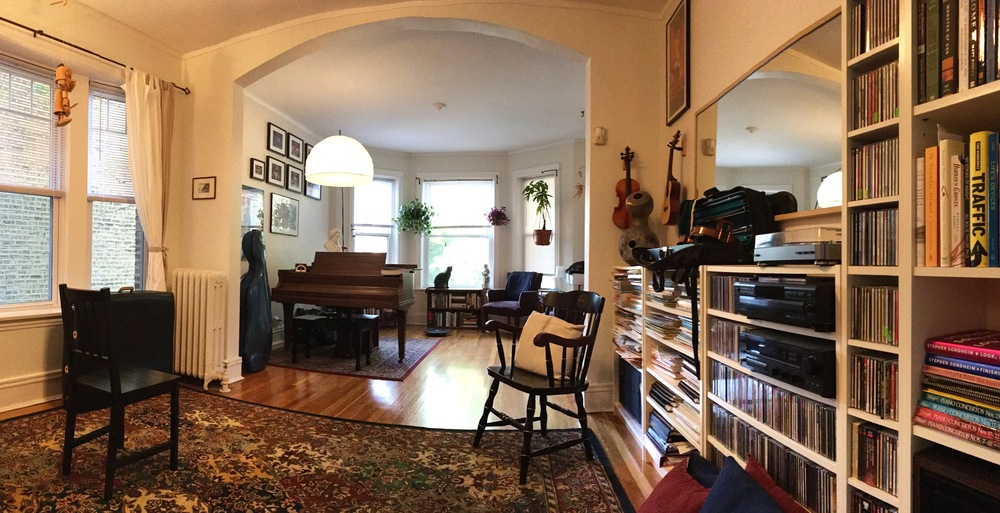 My teaching studio in Andersonville, Chicago.