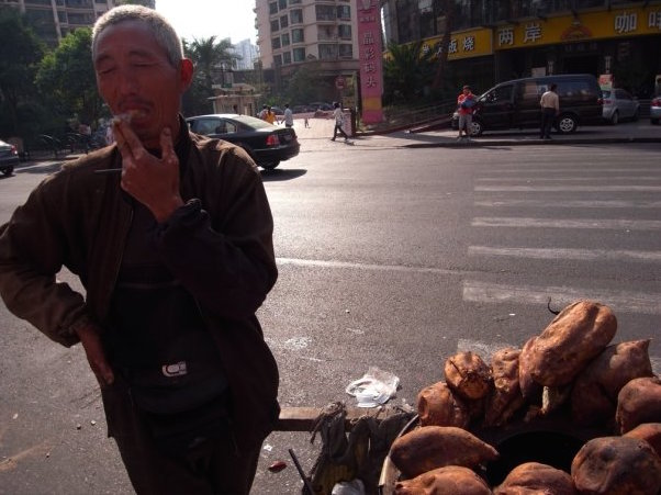 Shanghai, China   Yams were atrocious, but at least the convo was decent.
