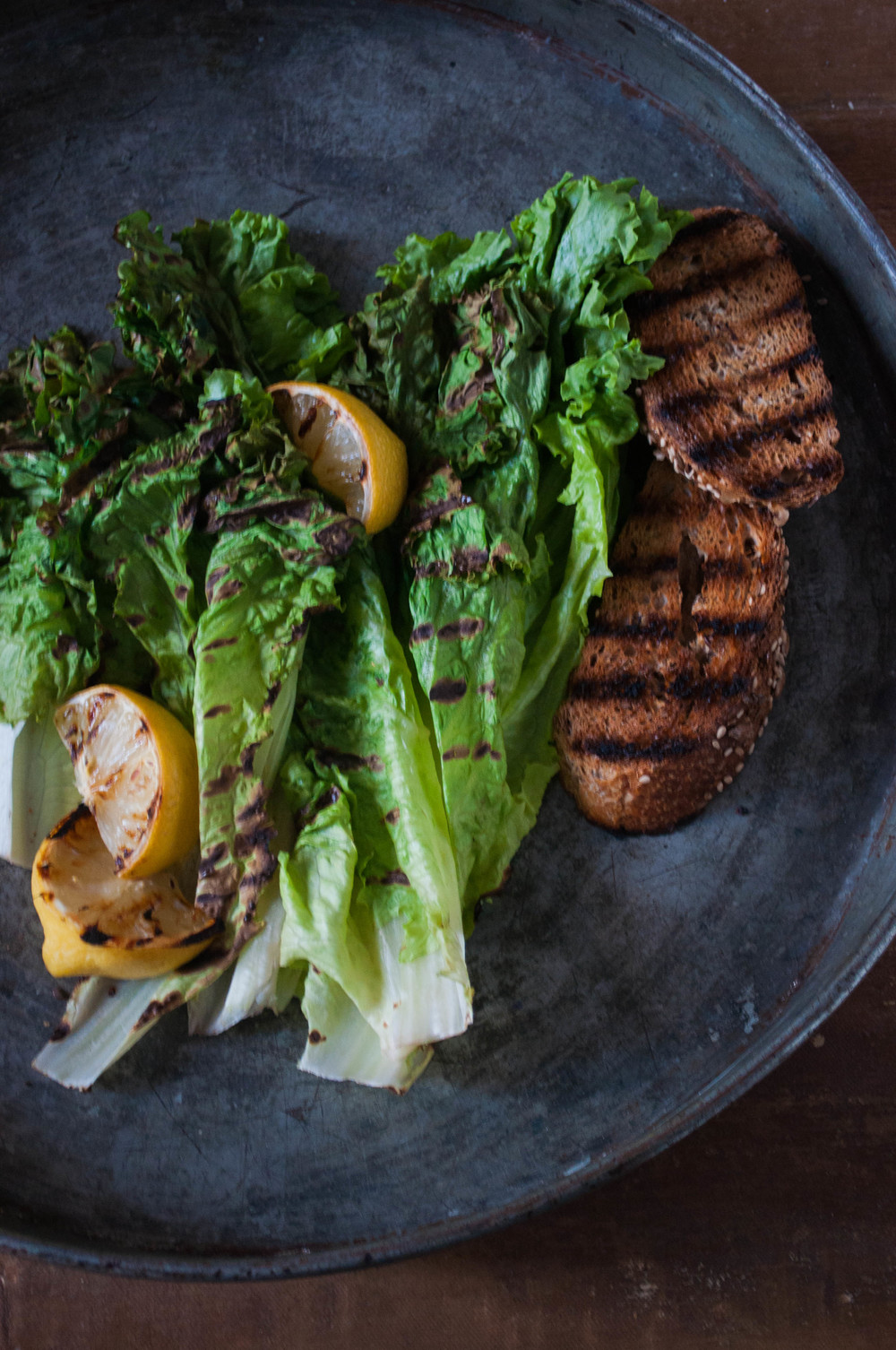 Simply Grilled Romaine with Warm Lemon Vinaigrette | The Cool York