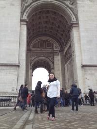 Kristen at the Arc De Triomphe, paris