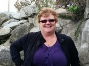 Brenda enjoying White Rock, B.C.