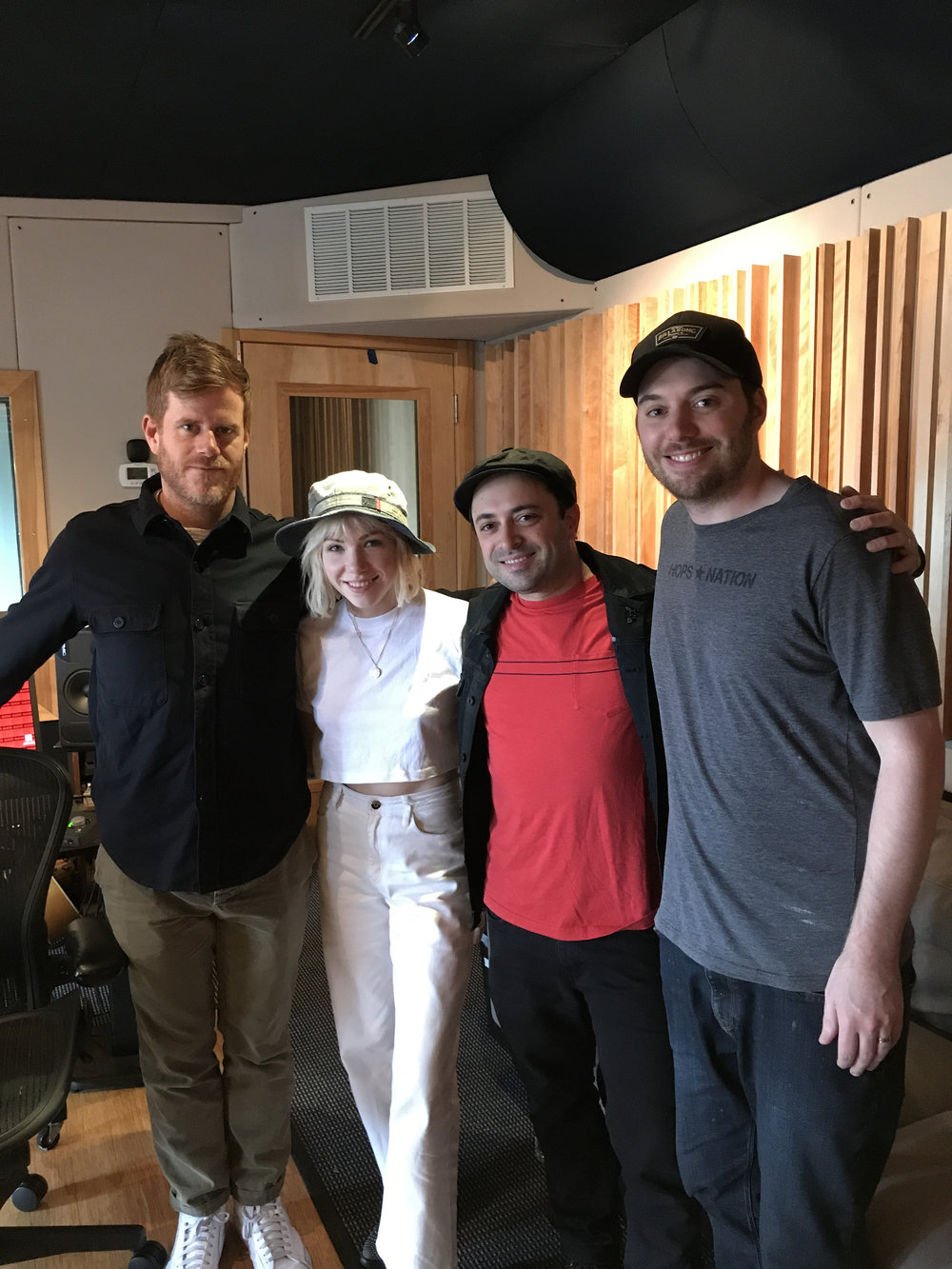 Couple songs in the studio this week with Carly Rae Jepsen!  John Hill Producing