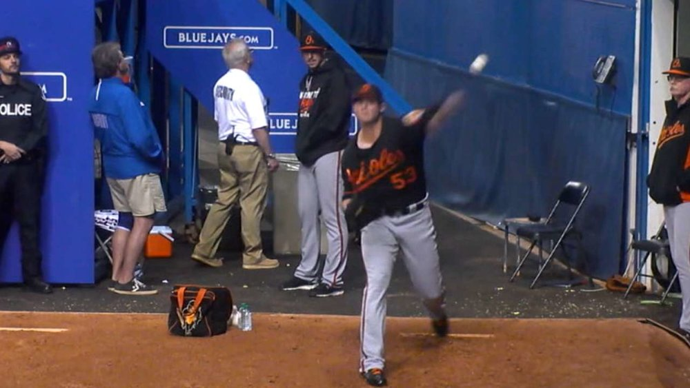 I assume Zach Britton is still warming up...