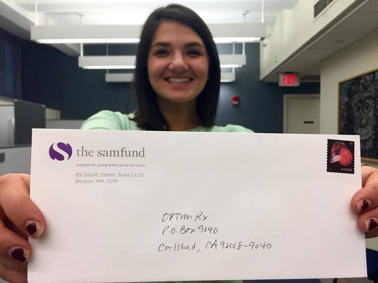 A Samfund grant check about to be sent out