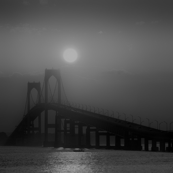 Newport Bridge, Sunset