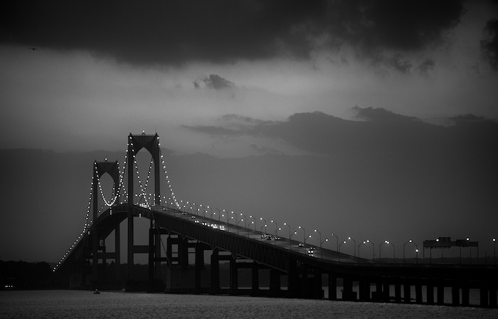 Newport Bridge, Stormy Night