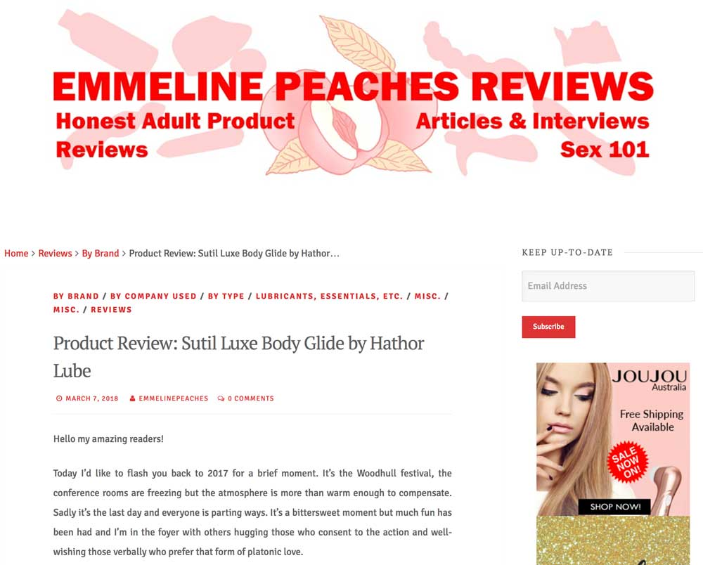 Emmeline Peaches reviews Sutil Luxe
