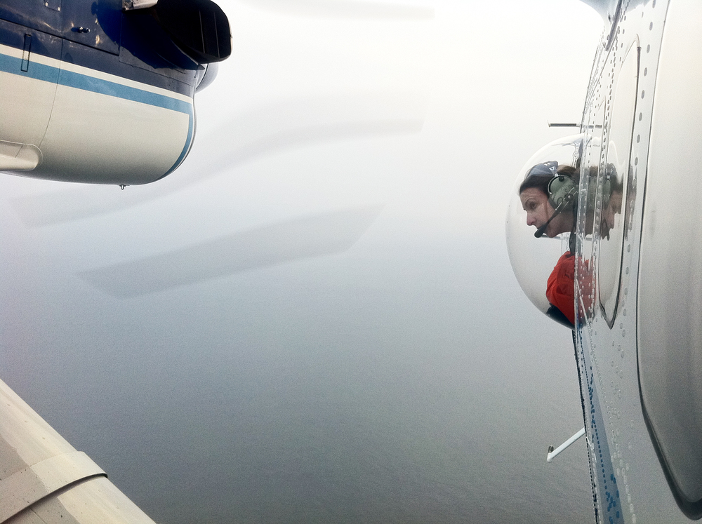 20110129_Allison_Henry_photo_of_ChristinKhan_observing_from_bubble_window.jpg